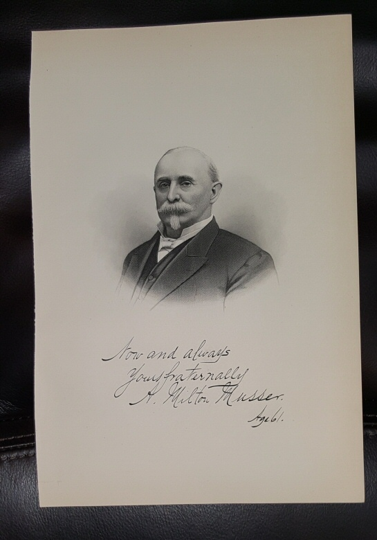 Image for Steel Engraving - A. Milton Musser -  Original MORMON / Utah Pioneer Steel Engraving