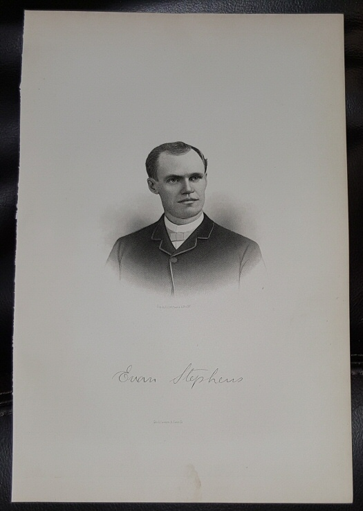 Image for Steel Engraving - Evan Stephens -  Original MORMON / Utah Pioneer Steel Engraving