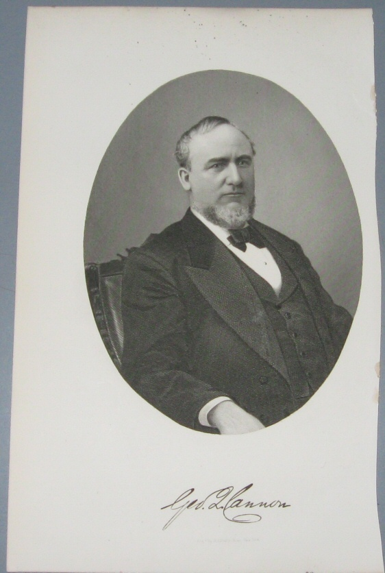 Image for Steel Engraving - George Q. Cannon -  Original MORMON / Utah Pioneer Steel Engraving