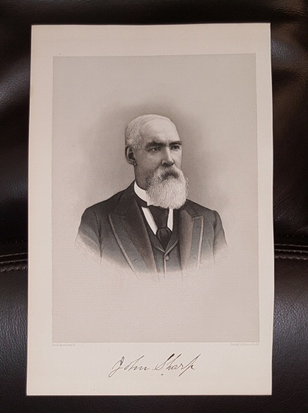 Image for Steel Engraving - John Sharp -  Original MORMON / Utah Pioneer Steel Engraving