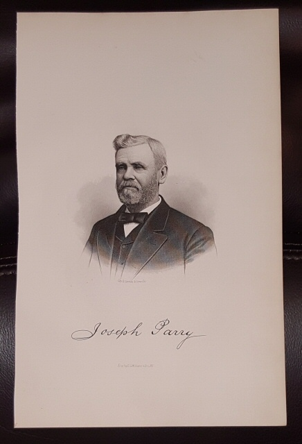 Image for Steel Engraving - Joseph Parry -  Original MORMON / Utah Pioneer Steel Engraving