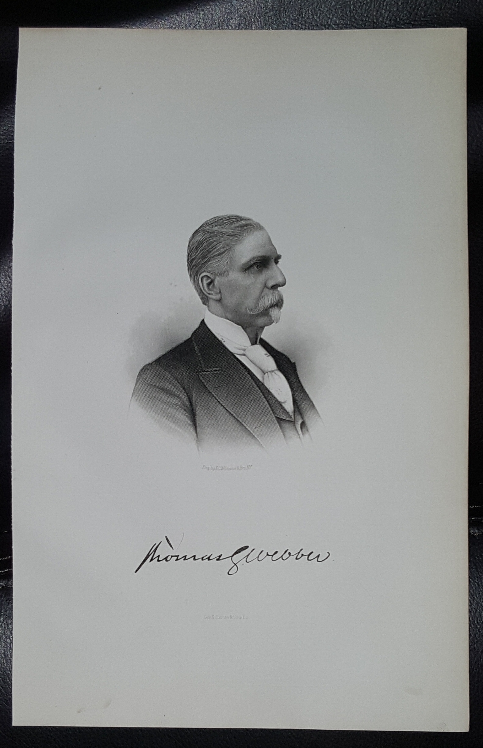 Image for Steel Engraving - Thomas G. Webber -  Original MORMON / Utah Pioneer Steel Engraving