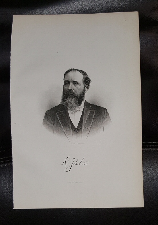 Image for Steel Engraving - David John -  Original MORMON / Utah Pioneer Steel Engraving