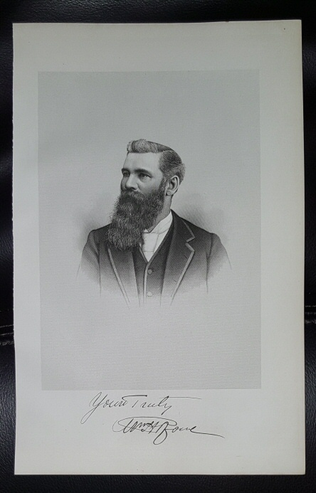 Image for Steel Engraving - William H. Rowe -  Original MORMON / Utah Pioneer Steel Engraving