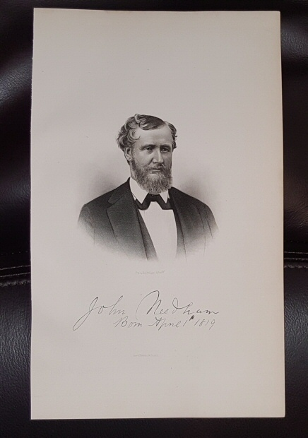 Image for Steel Engraving - John  Needham -  Original MORMON / Utah Pioneer Steel Engraving