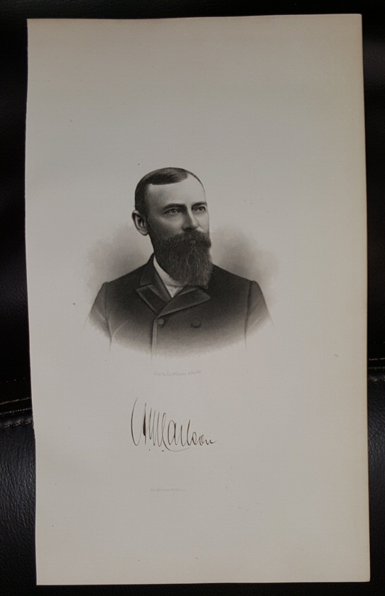 Image for Steel Engraving - August W. Corlson -  Original MORMON / Utah Pioneer Steel Engraving