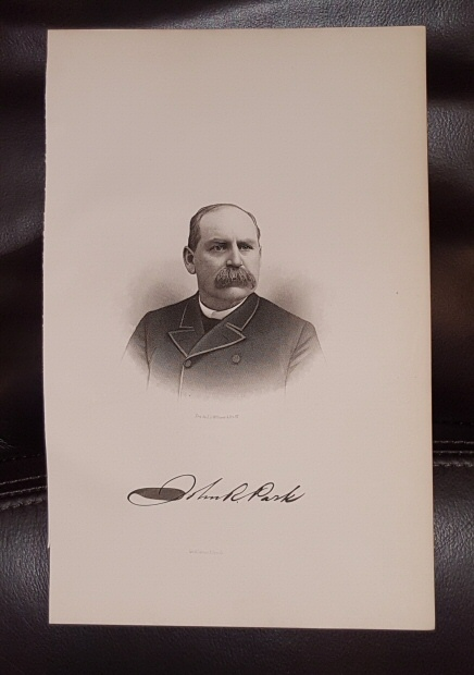 Image for Steel Engraving - John R. Park -  Original MORMON / Utah Pioneer Steel Engraving
