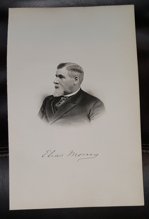 Image for Steel Engraving - Elias Morris -  Original MORMON / Utah Pioneer Steel Engraving