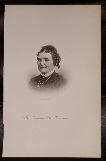 Image for Steel Engraving - M. Isabella Horne -  Original MORMON / Utah Pioneer Steel Engraving