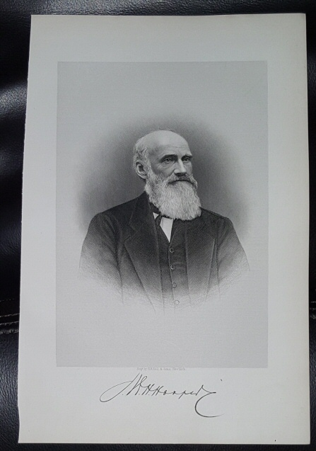Image for Steel Engraving - William H. Hooper -  Original MORMON / Utah Pioneer Steel Engraving