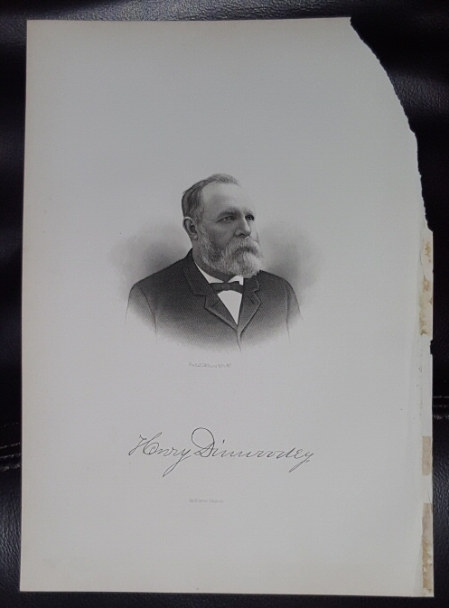 Image for Steel Engraving - Henry Dinwoodey -  Original MORMON / Utah Pioneer Steel Engraving