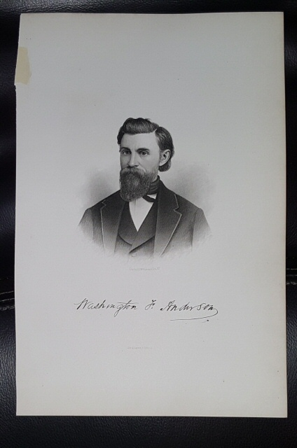 Image for Steel Engraving - Washington F. Anderson -  Original MORMON / Utah Pioneer Steel Engraving