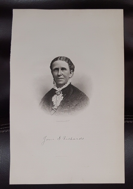 Image for Steel Engraving - Jane S. Richards -  Original MORMON / Utah Pioneer Steel Engraving