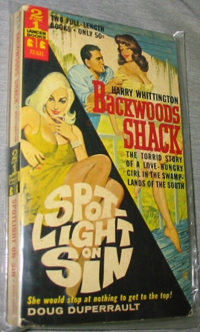Image for Backwoods Shack/Spot Light on Sin -  Two full length books