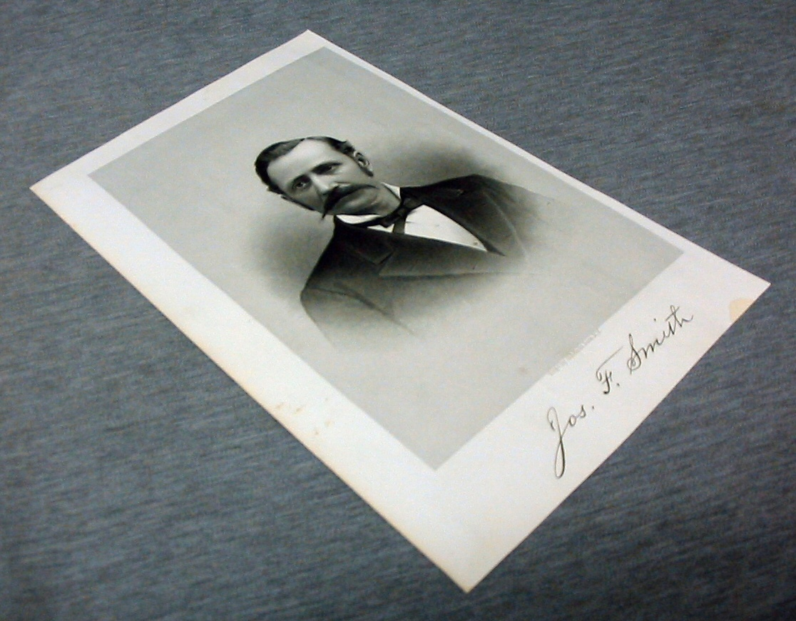 Image for Steel Engraving - JOSEPH F. SMITH - 1890 -  Original MORMON / Utah Pioneer Steel Engraving