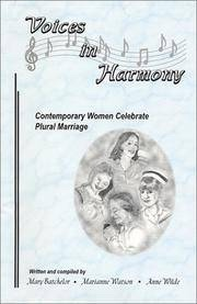 Image for Voices in Harmony;  Contemporary Women Celebrate Plural Marriage
