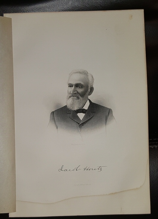 Image for Steel Engraving - Jacob Houtz -  Original MORMON / Utah Pioneer Steel Engraving