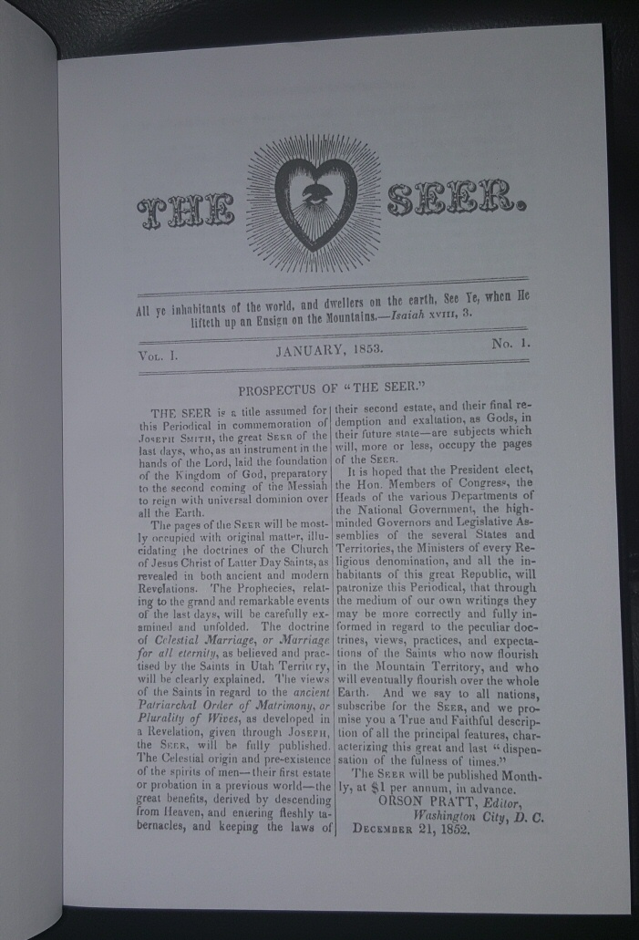 Image for THE SEER -  1853-54 - Mormon Newspaper