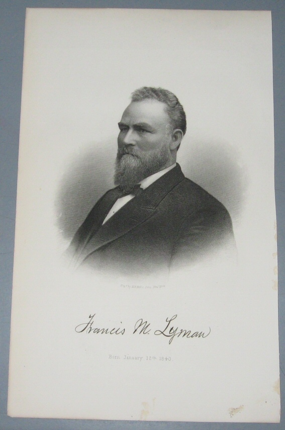 Image for Steel Engraving - Francis M. Lyman -  Original MORMON / Utah Pioneer Steel Engraving