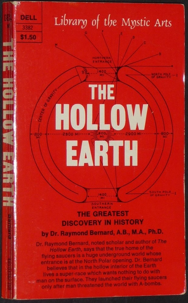 Image for The Hollow Earth - The Greatest Geographical Discovery in History Made by Admiral Richard E. Byrd in the Mysterious Land Beyond the Poles--The True Origin of the Flying Saucers