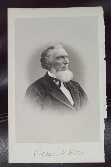 Image for Steel Engraving - Daniel H. Wells -  Original MORMON / Utah Pioneer Steel Engraving
