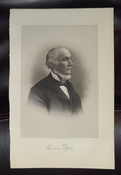 Image for Steel Engraving - Lorin Farr -  Original MORMON / Utah Pioneer Steel Engraving