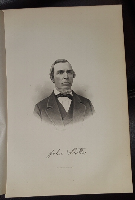 Image for Steel Engraving - John Stoker -  Original MORMON / Utah Pioneer Steel Engraving