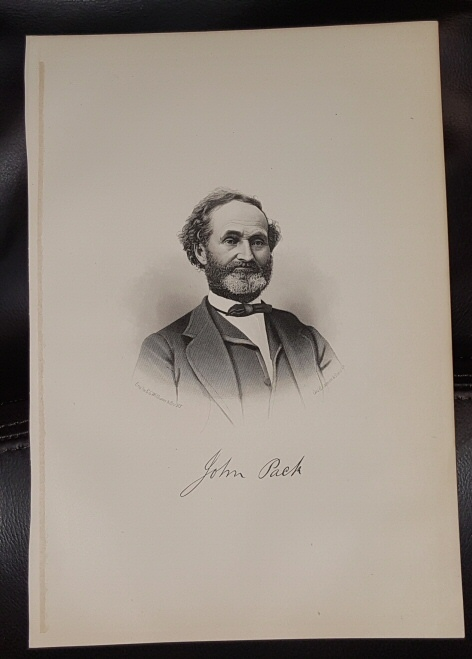 Image for Steel Engraving - John Pack -  Original MORMON / Utah Pioneer Steel Engraving