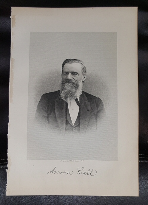 Image for Steel Engraving - Anson Call -  Original MORMON / Utah Pioneer Steel Engraving