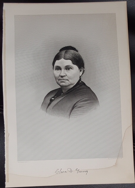 Image for Steel Engraving - Clara D. Young -  Original MORMON / Utah Pioneer Steel Engraving