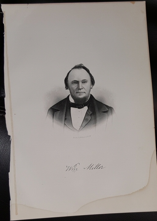 Image for Steel Engraving - Williams Miller -  Original MORMON / Utah Pioneer Steel Engraving