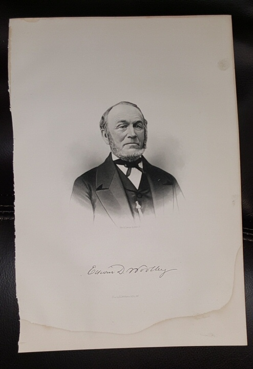 Image for Steel Engraving - Edwin D. Wolley -  Original MORMON / Utah Pioneer Steel Engraving