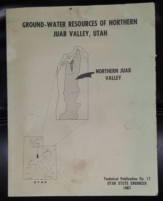 Image for Ground-Water Resources of Northern Juab Valley, Utah, 1967, Technical Publication, Number 17   .