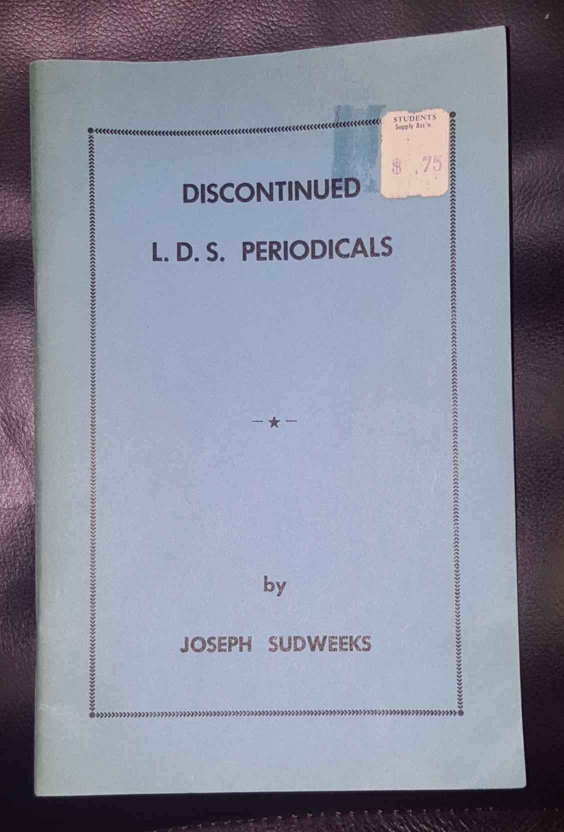 Image for Discontinued L.D.S. [LDS] Periodicals
