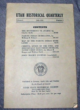 Image for Utah Historical Quarterly -  Summer 1969 - VOLUME 6 - NUMBER 3